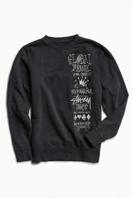 Stussy First Annual Embroidered Crew Neck Sweatshirt