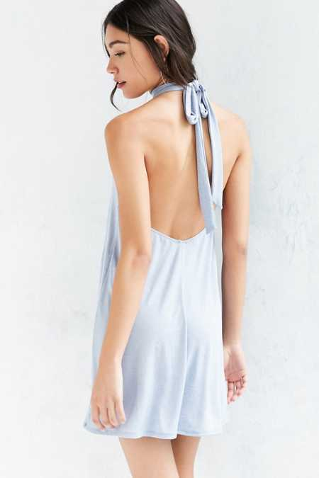 Kimchi Blue Knit Mock-Neck Halter Mini Dress
