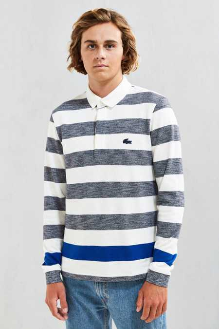 Lacoste Engineered Jaspe Stripe Polo Shirt