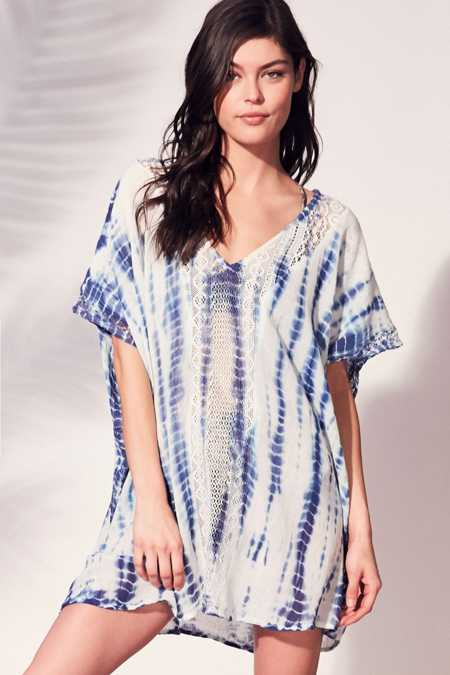 Out From Under Shibori Mini Caftan Cover-Up