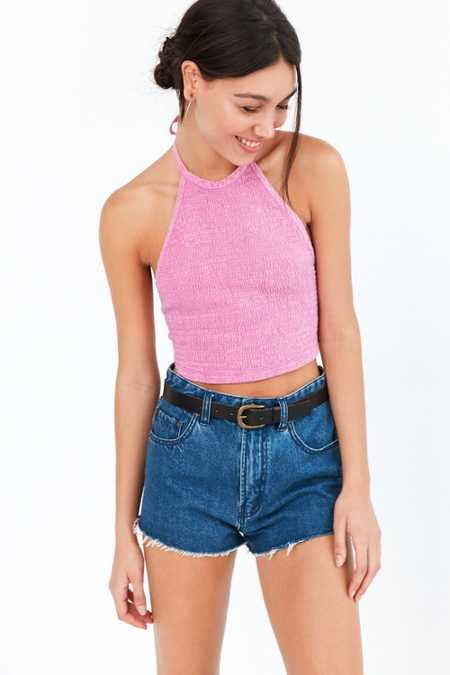 Ecote Cate Smocked Halter Top