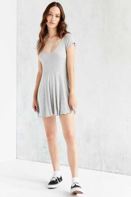 Kimchi Blue Sand Dollar Ribbed Knit T-Shirt Dress