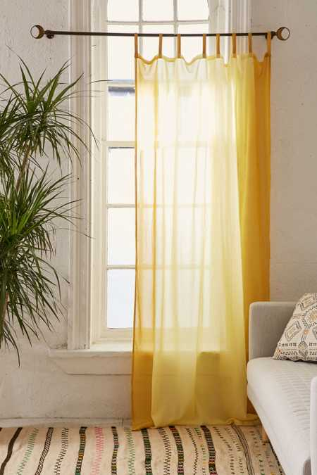Dyed Ombre Border Curtain