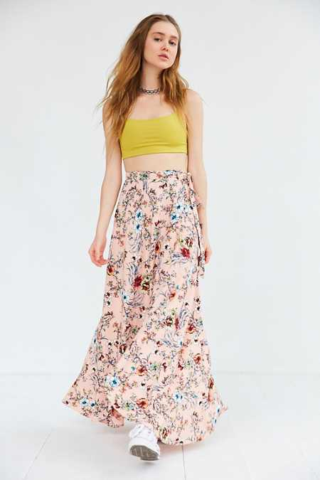 BOG Collective Tulip Wrap Maxi Skirt