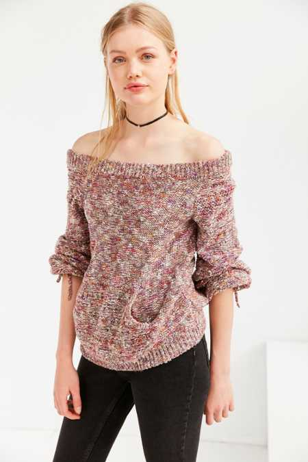 Kimchi Blue Off-The-Shoulder Balloon-Sleeve Sweater