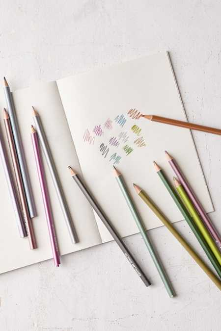 Metallic Colored Pencils Set