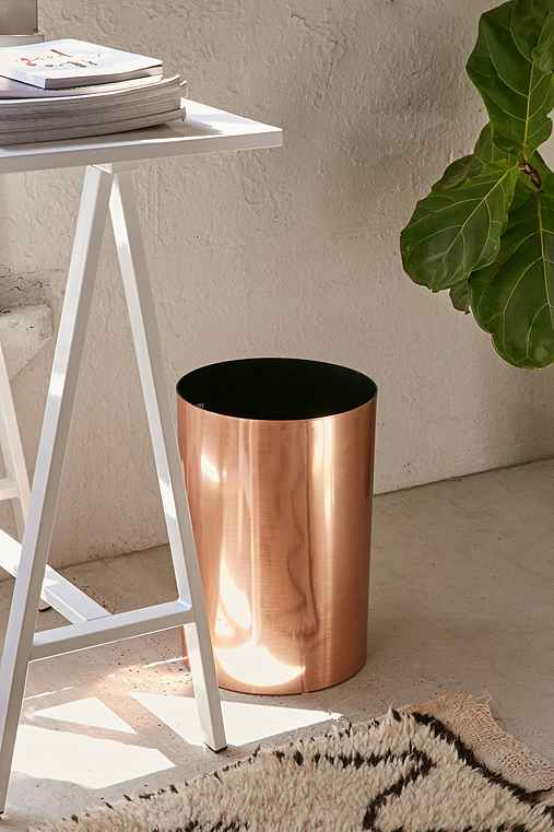 Umbra Matilda Trash Can,COPPER,ONE SIZE
