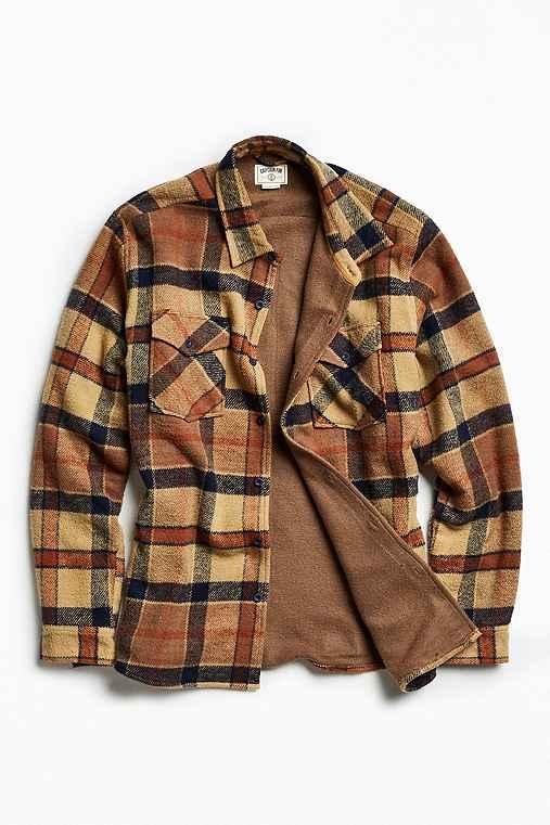 Captain Fin Grant Plaid Shirt Jacket,TAN,XL