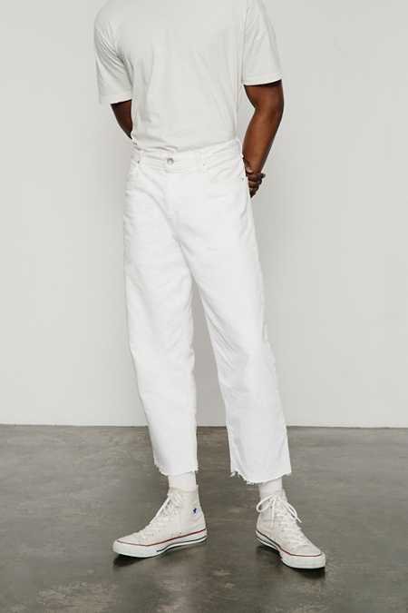 BDG White Relaxed Cutoff Jean