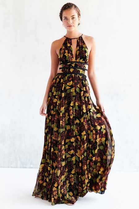 Ecote Marietta Strappy-Back Maxi Dress