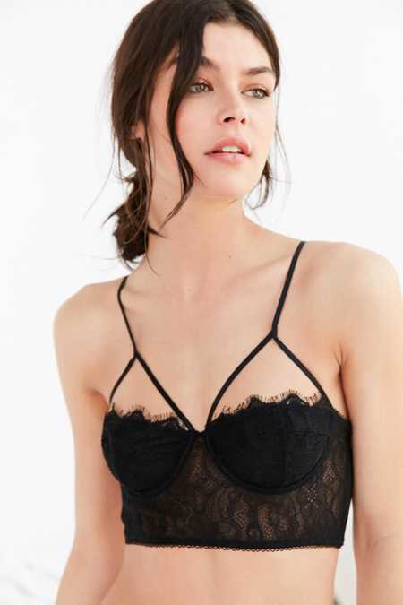 Out From Under Lauren Eyelash Lace Underwire Bra