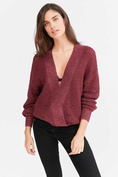 Silence + Noise Balloon-Sleeve Surplice Sweater