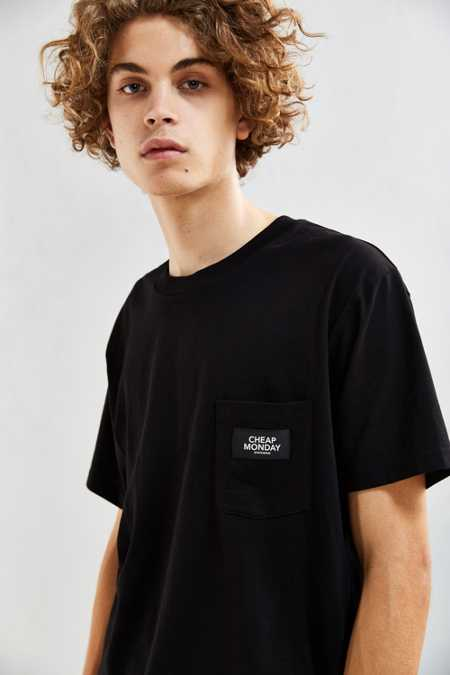 Cheap Monday Dragged Logo Pocket Tee