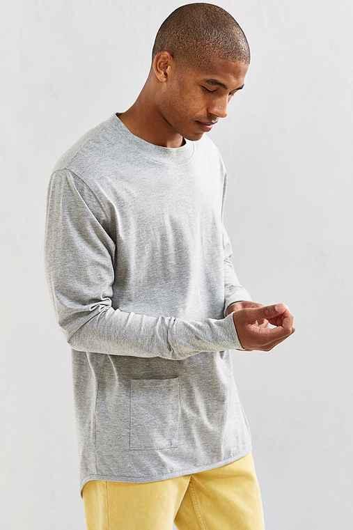 Cheap Monday Curb Long-Sleeve Tee,GREY,XL