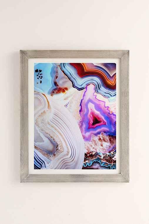 Elena Kulikova Agate Art Print,GREY BARNWOOD,40X60