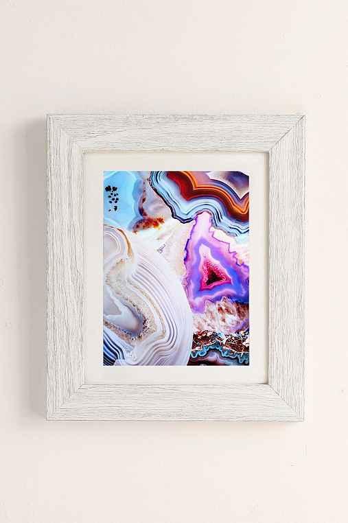 Elena Kulikova Agate Art Print,WHITE BARNWOOD,18X24