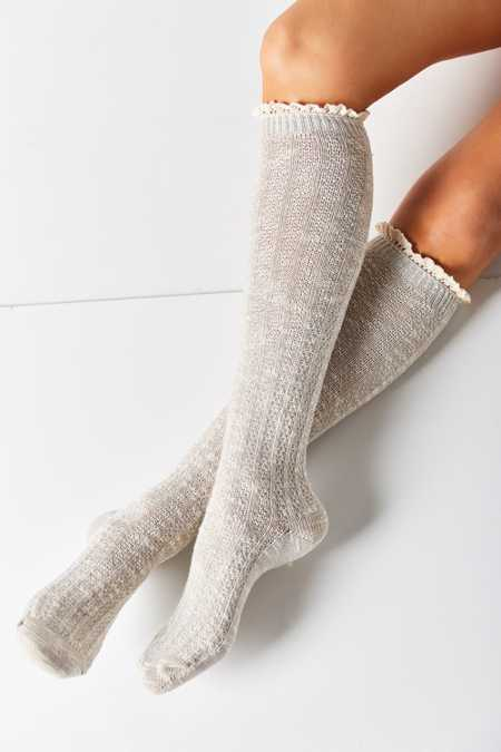 Crochet Cuff Knee-High Sock