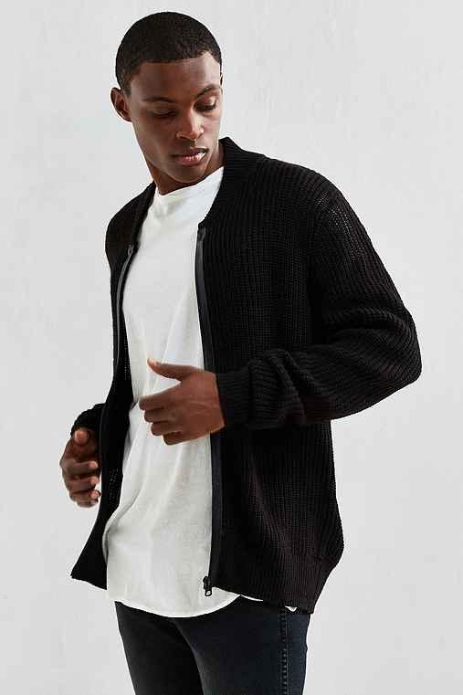 Cheap Monday Zip Bomber Sweater,BLACK,L