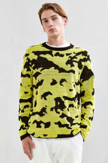 Cheap Monday Moe Pattern Crew Neck Sweater