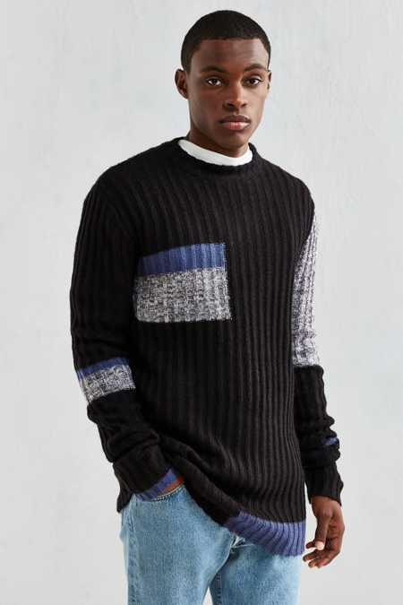 Cheap Monday Separate Colorblock Crew Neck Sweater