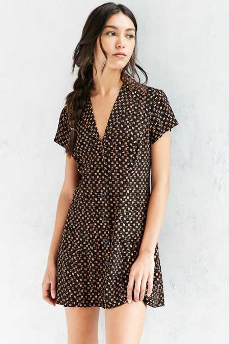 Cooperative Cabana Button-Front Shirt Dress
