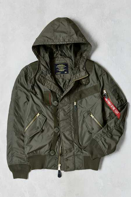 Alpha Industries Helo Hooded Bomber Jacket