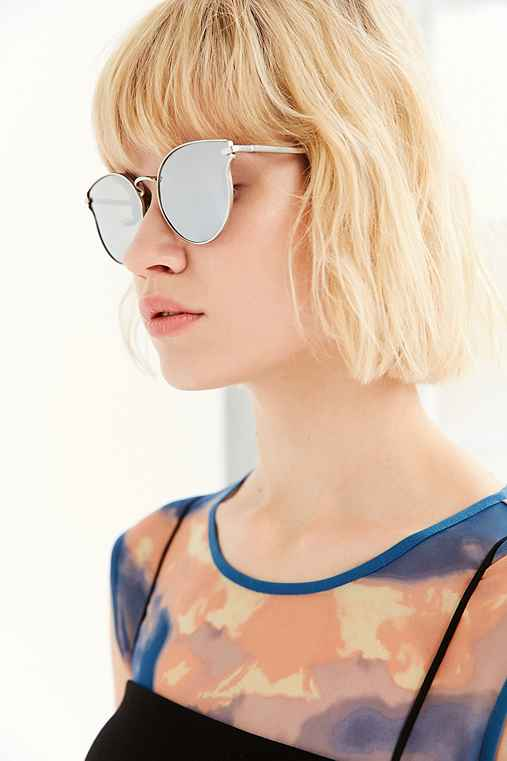 Cosmic Cat-Eye Sunglasses,SILVER,ONE SIZE