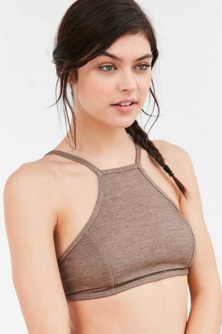 Out From Under Knit High Neck Bra
