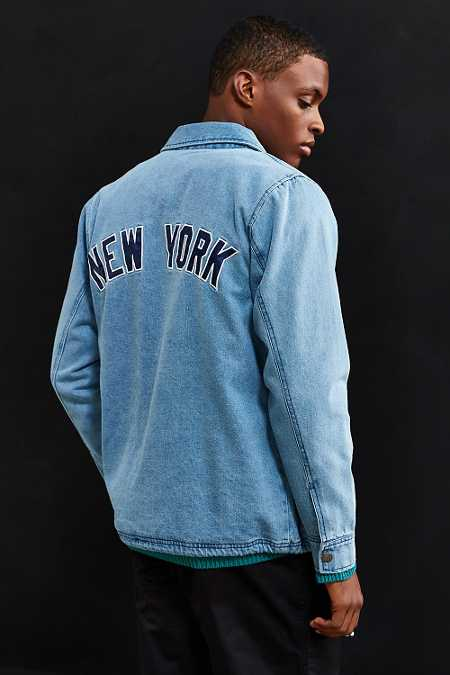 Starter X UO New York Denim Coach Jacket