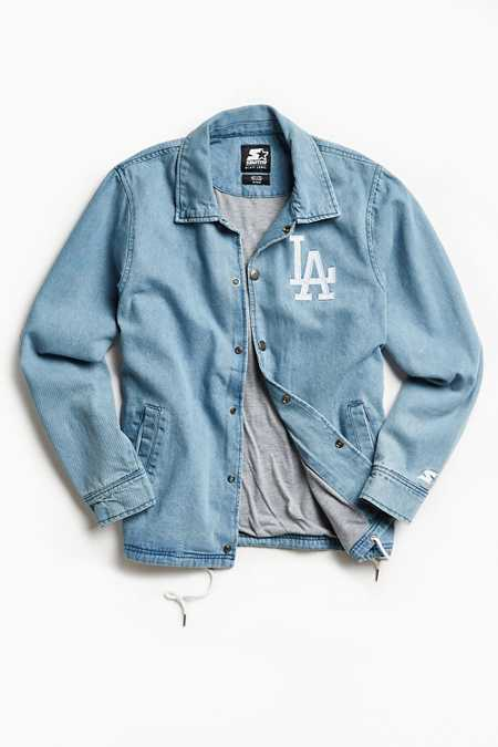 Starter X UO Los Angeles Denim Coach Jacket
