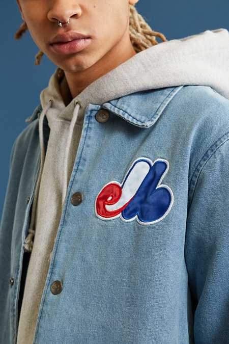 Starter X UO Montreal Denim Coach Jacket
