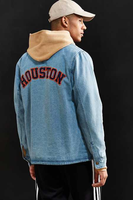 Starter X UO Houston Denim Coach Jacket