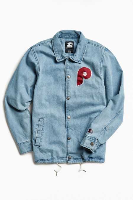 Starter X UO Philadelphia Denim Coach Jacket