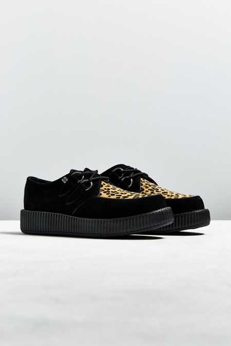 T.U.K. Low Sole Leopard Print Creeper Shoe