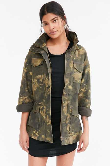 BDG Georgie Camo 4-Pocket Surplus Jacket