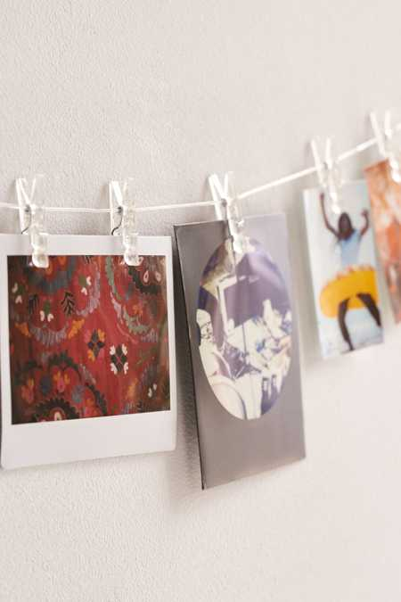 Flecked Photo Clips String Set