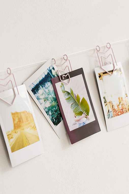 Matte Pennant Photo Clips String Set,LILAC,ONE SIZE