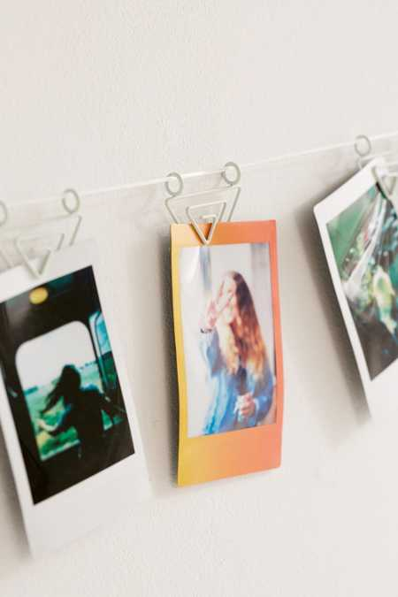 Matte Triangle Photo Clips String Set