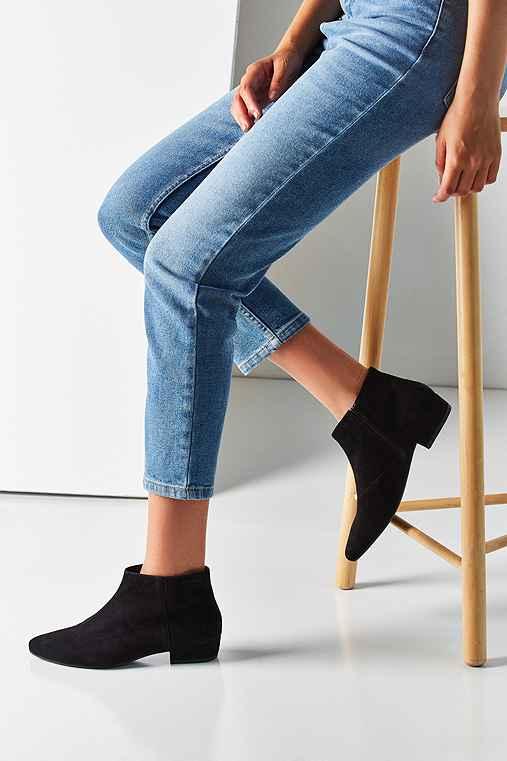 Vagabond Sarah Suede Ankle Boot,BLACK,US 8/EU 38