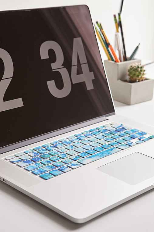 Blue Marble Keyboard Cover,BLUE,ONE SIZE