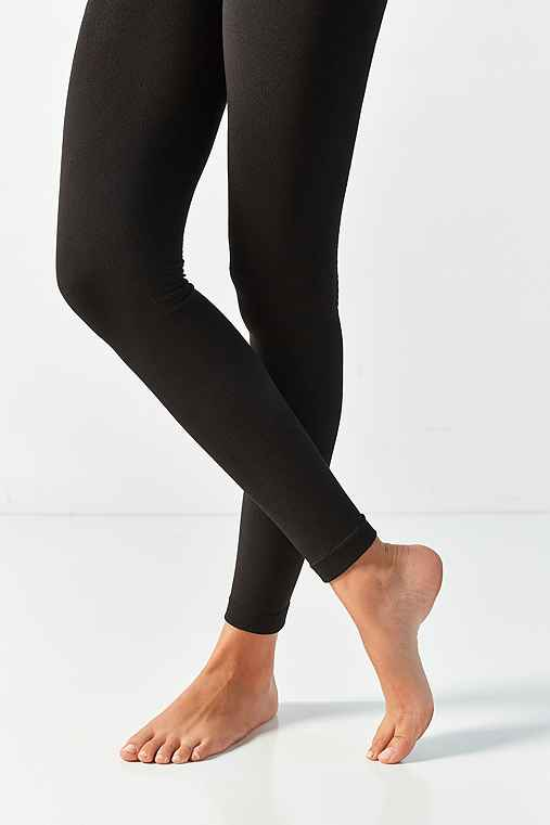 Out From Under Fleece Lined Footless Tight,BLACK,M/L