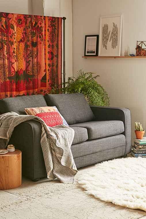 Deco Convertible Sofa,DARK GREY,ONE SIZE
