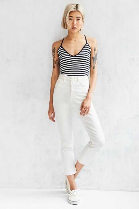BDG Girlfriend High-Rise Jean - White