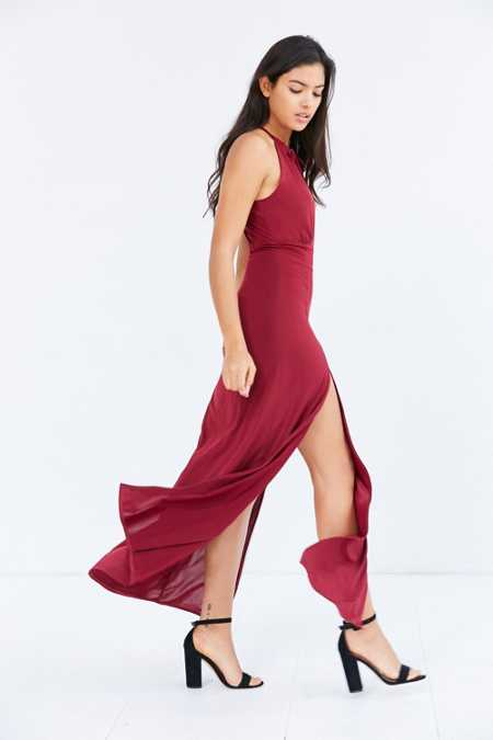 WYLDR Out Of My League Tie-Neck Maxi Dress