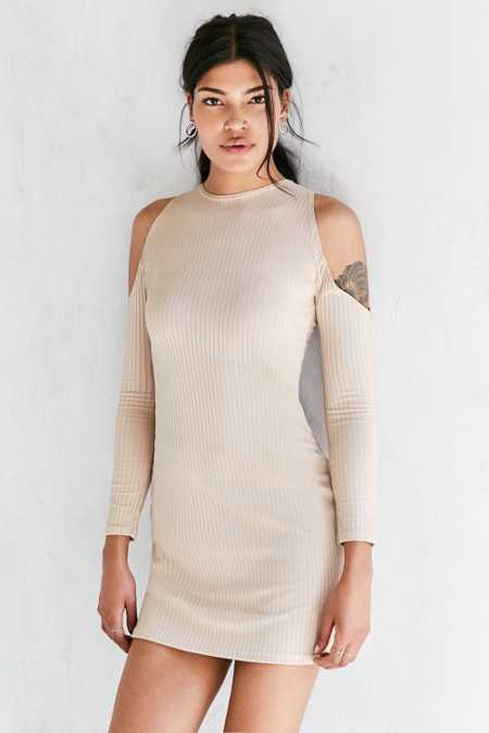 Motel Marsha Cold-Shoulder Mini Dress