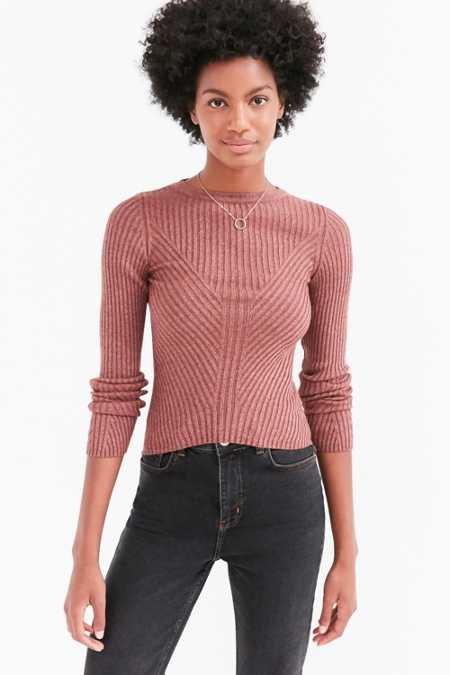 Silence + Noise Speckle Patterned Rib Pullover Sweater