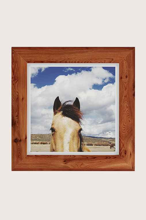 Kevin Russ Cloudy Horse Head Art Print,CEDAR,16X16