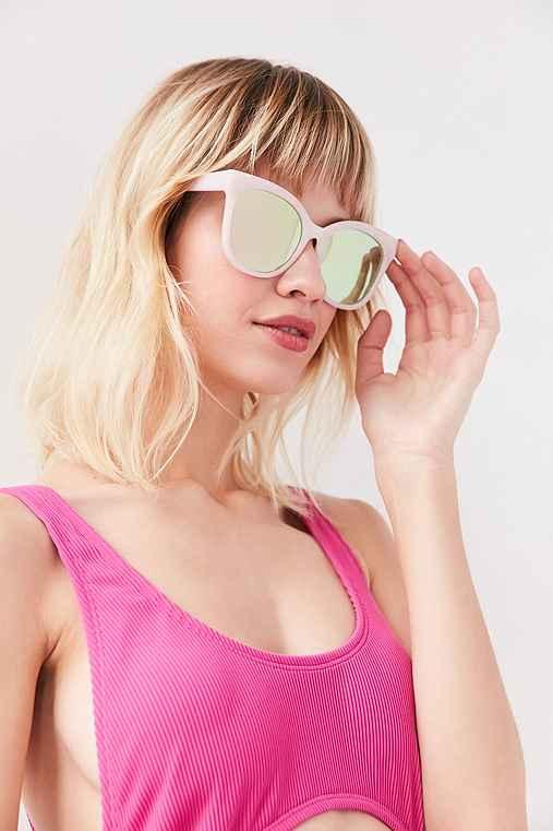 Carmen Oversized Cat-Eye Sunglasses,BLUSH,ONE SIZE
