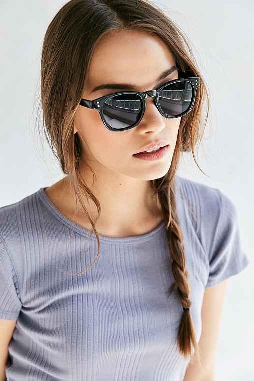 Classic Slim Square Sunglasses,BLACK,ONE SIZE