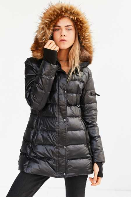 S13 Chelsea Faux Fur Quilted Parka